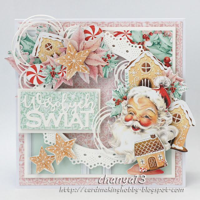 435. Kartka świąteczna z Mikołajem