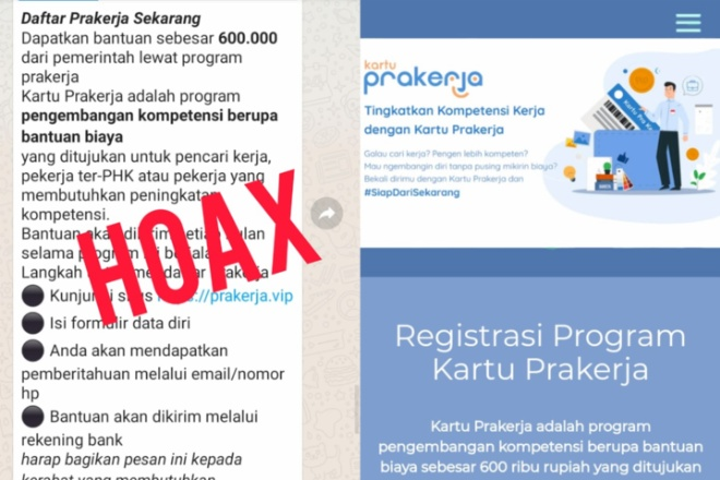 Hati-hati, Beredar Penipuan Daftar Prakerja Lewat Situs Prakerja.vip