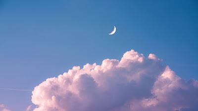 Crescent Moon Cloud Sky