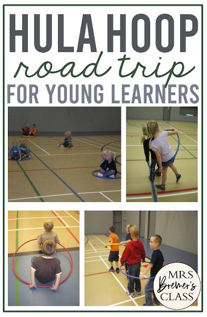 Hula Hoop Road Trip PE activity gym Kindergarten First Grade