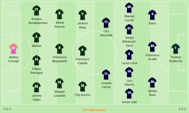 Prediksi Sassuolo vs Lazio — 24 November 2019