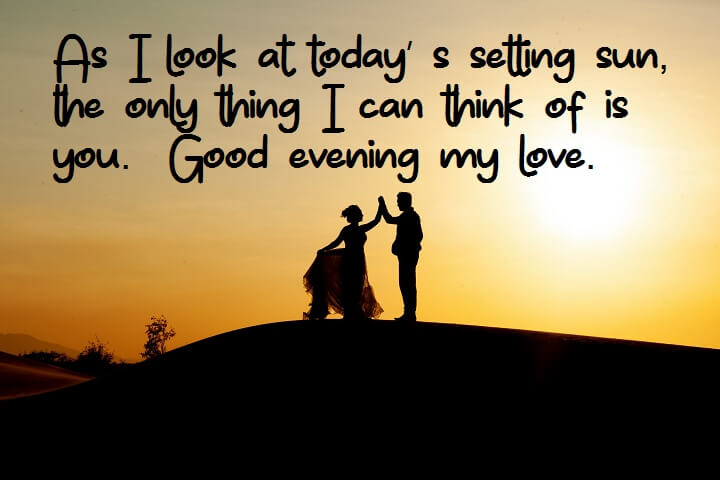 romantic good evening images for her