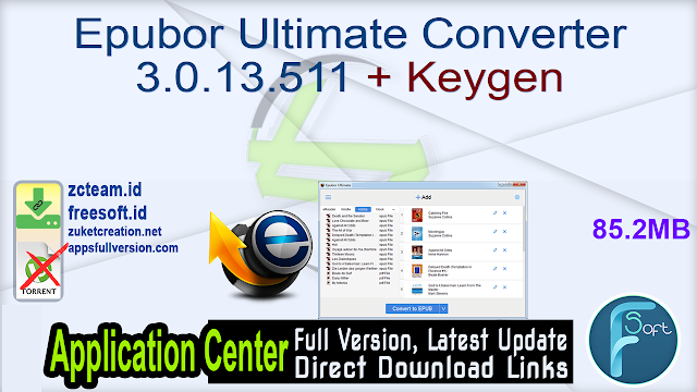 Epubor Ultimate Converter 3.0.13.511 + Keygen_ ZcTeam.id