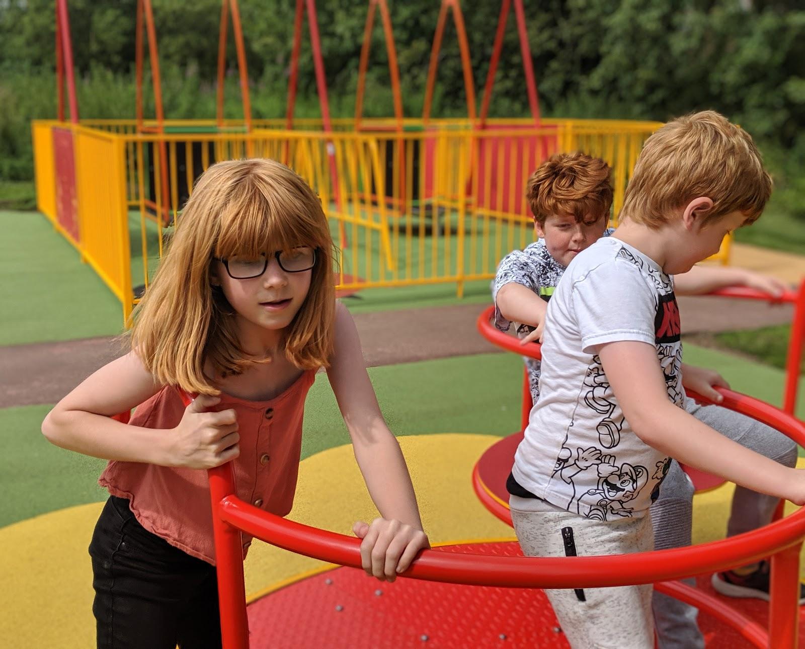 Harestanes Park, Jedburgh  - roundabout