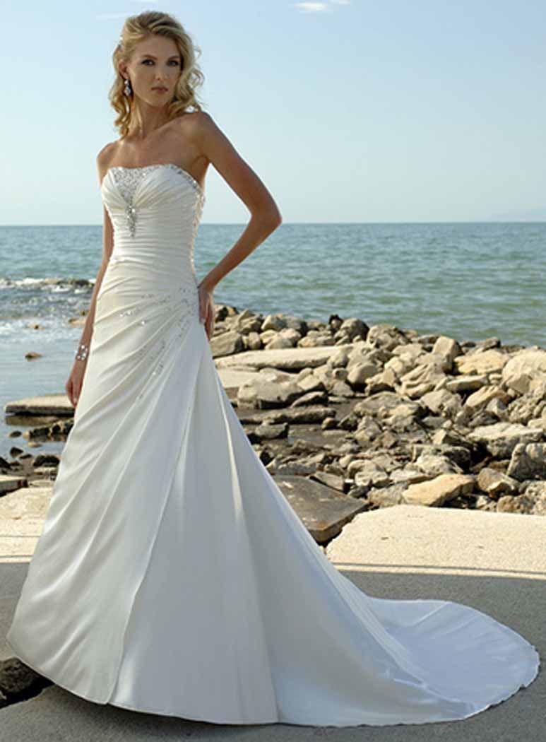 Casual Beach Wedding Dresses Under 100 2017 Short