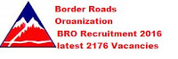 BRO Recruitment 2016 – 2176 Apply Online for Multi Skilled Worker, Supervisor, Driver & Other Posts
