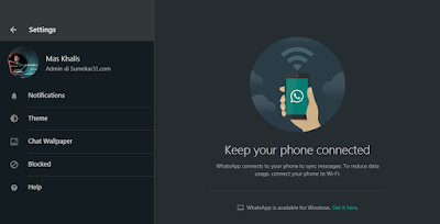 Mode Gelap (Dark Mode) WhatsApp Web
