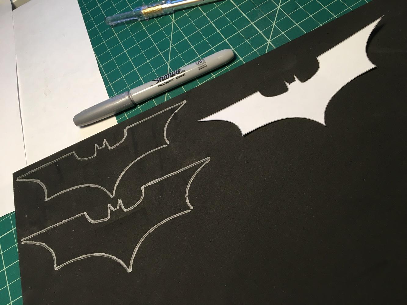 nerdy views foam batarang project