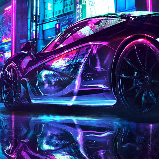 Cyberpunk Car Wallpaper Engine