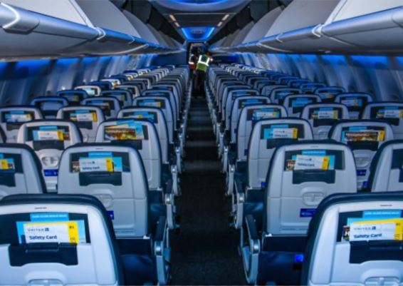 Boeing 737 MAX 10 cabin interior