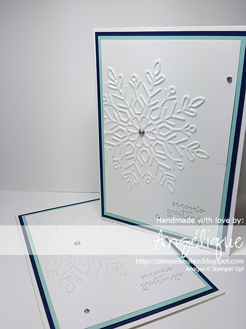 Stampin' Up! producten koop je bij de Stempelkeuken #stempelkeuken #stampinup #stampinupnl #cheerstotheyear #newyear #christmas #newyearsday #happynewyear #snowflakes #winter #denhaag #thehague #westland #nederland #creatief #winterwonderTIEF #embossing #bigshot #cardmaking #papercrafting #creative