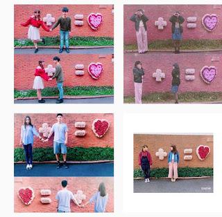 セント ヴァレンタイン教会 写真スポット + = ハート 壁