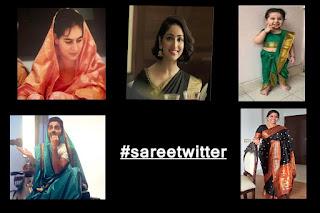 #sareetwitter: भारतीय नारी की शान हैं साड़ी...!!!