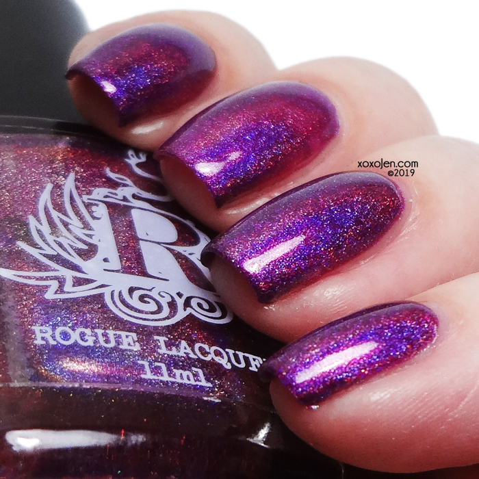 xoxoJen's swatch of Rogue Holo berry