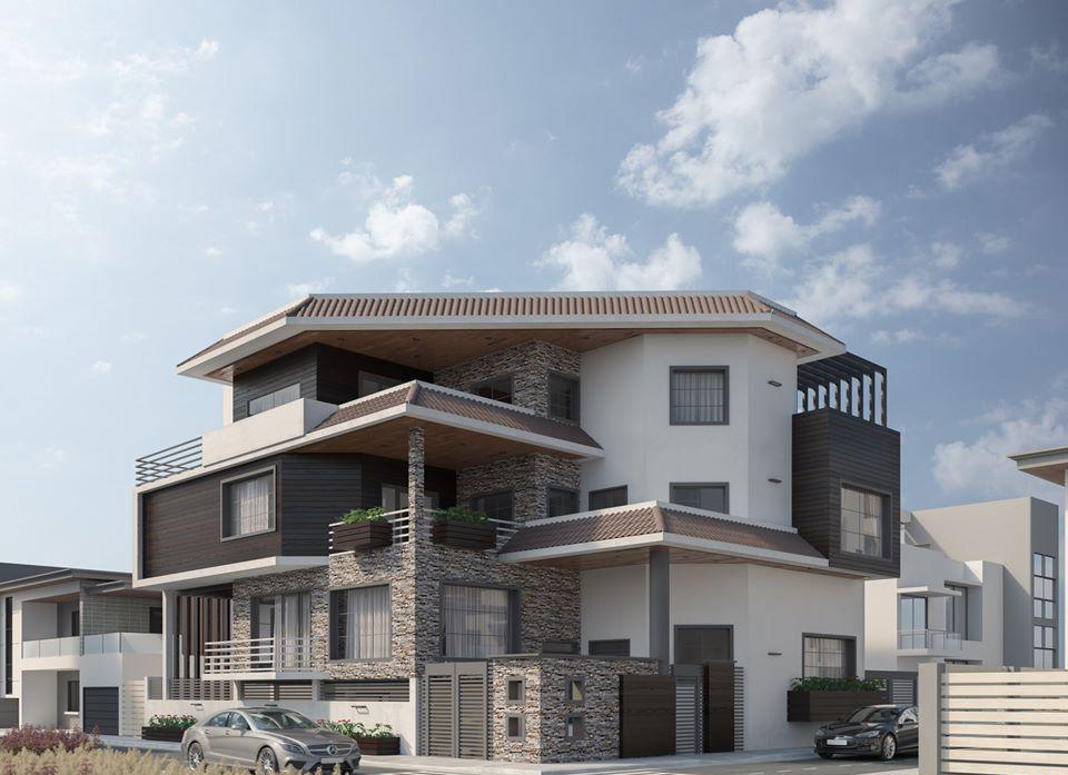 Diseño moderno de una casa exterior interior