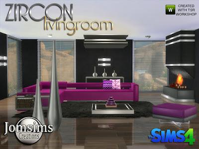 Zircon Modern Living Room Циркон Современная гостиная для The Sims 4 Из sims 3 в sims 4. в этом наборе. диван 1.sofa 2.Для дивана 2 симы проходят, на угол дивана, так что сидит. и я использую bb.moveobjects для создания угла. ваза металлический шар 3 стиля. ваза металлическая напольная или стол большой х2. скульптурный стол 4 цвета. Все объекты найти в категории беспорядок. Подушки для дивана1. Камин, 3 цвета. Потолочная конструкция 3 стиля. Журнальный столик низкий 3 стиля. слойка 4 цвета найти в категории кресло для сидения. 1 консоль деко 4 цвета. 1 armest deco 4 colors, я использую bb.moveobjects.1 настенный металлический светильник. очень современная жизнь для ваших симов 4. Автор: jomsims