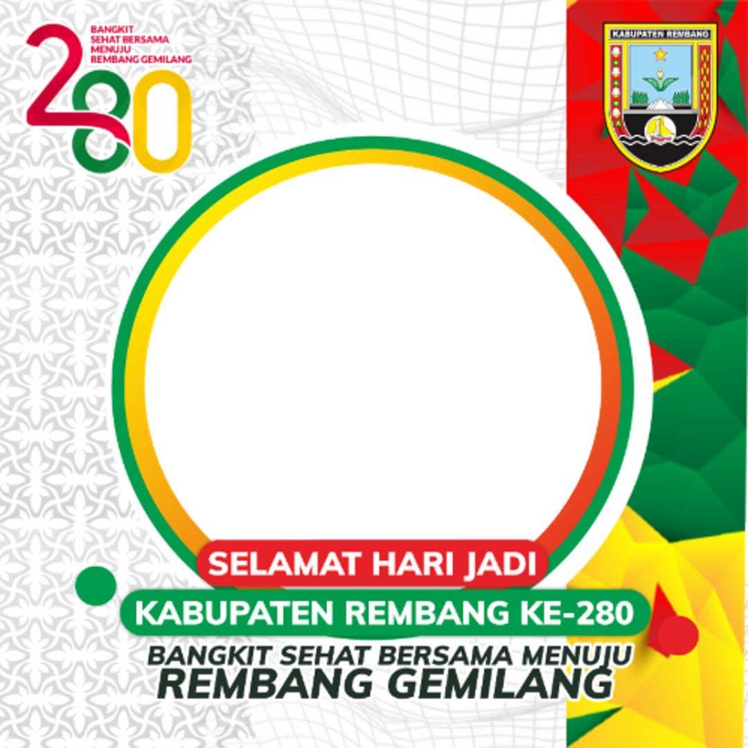 Link Download Bingkai Foto Twibbon Selamat Hari Jadi Kabupaten Rembang 2021 - Twibbonize