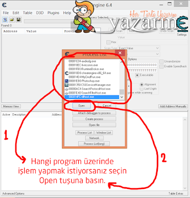 cheat engine kullanımı 1