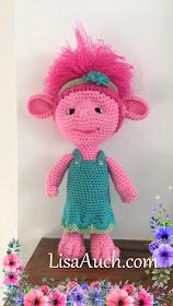 How to crochet princess poppy troll pattern