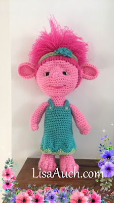 How to crochet princess poppy troll pattern