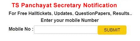 TS Panchayat Secretary Notification