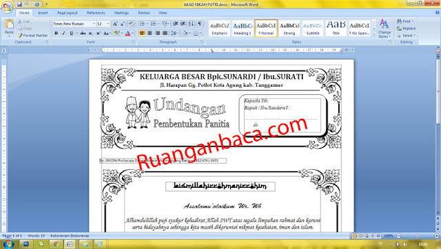Download Undangan Akad Nikah Siap Edit