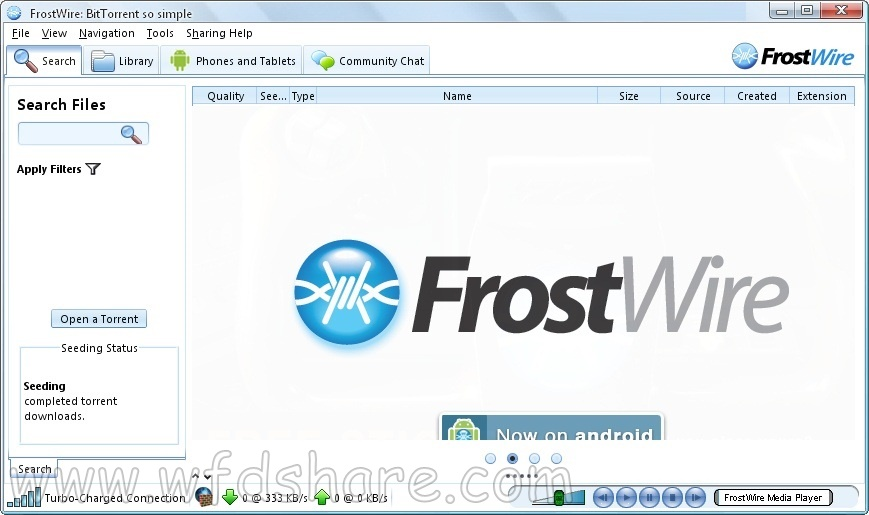 frostwire download freeware setup full