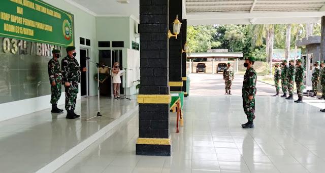 Dandim 0315/Bintan Memimpin Acara Korps Raport Perwira Pindah Satuan
