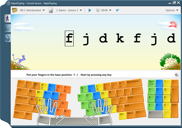 un logiciel pour apprendre  u00e0 taper sur le clavier  typing tutor