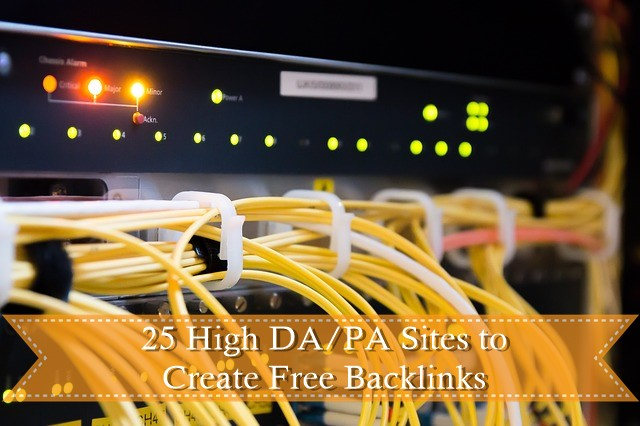 25 High DA/PA Sites to Create Free Backlinks