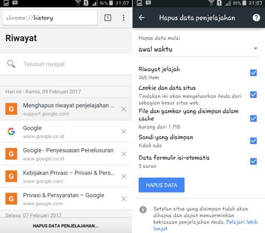 Cara Mudah Menghapus Riwayat Pencarian Google Di Android