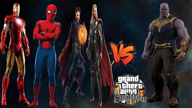 GTA San Avengers End Of Game Mod