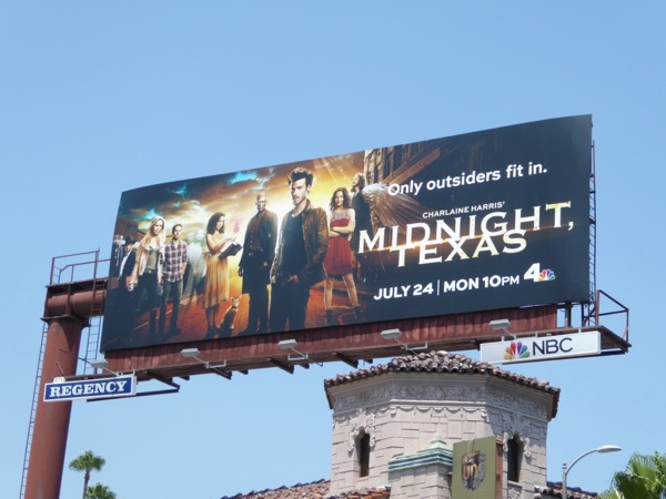 Midnight Texas series launch billboard