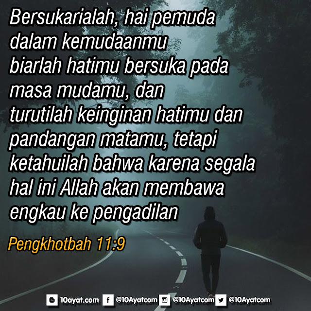 Pengkhotbah 11:9