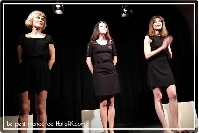 comédiennes de Fragments de femmes  : Alix Schimdt, Solène Gentric et Cécile Théodore)