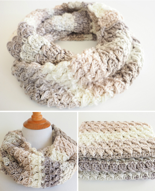 Cross-Over Stitch Infinity Scarf - Free Pattern