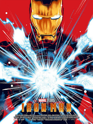 Iron Man Gold Foil Edition Screen Print by Doaly x Grey Matter Art