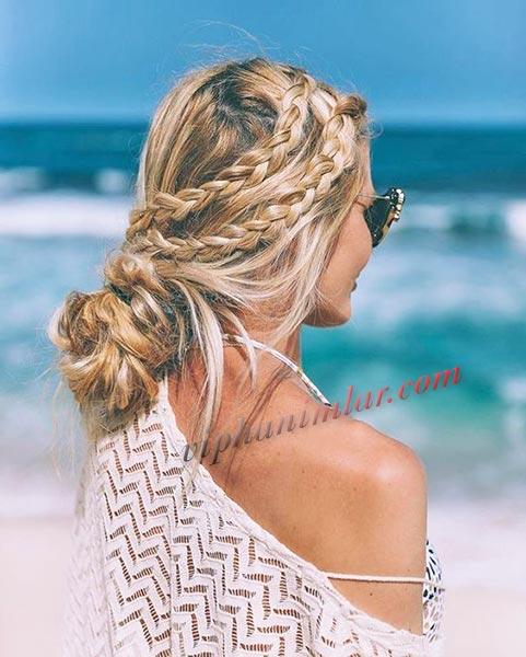 Plaj için saç modeli- www.viphanimlar.com