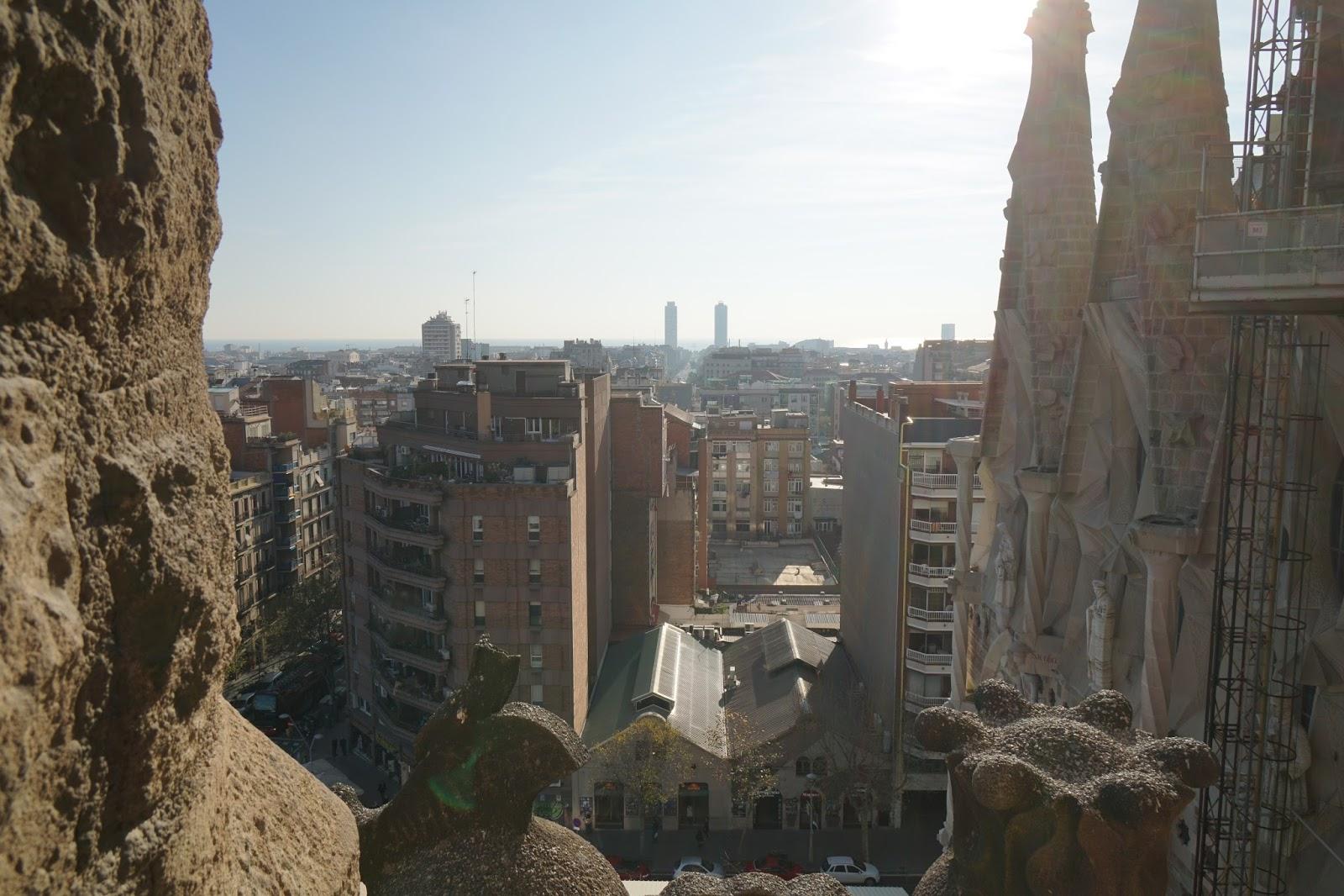 サグラダ・ファミリア (Sagrada Familia) テラスからの眺め