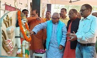 गोरखपुर में मेयर ने की भगवान सहस्त्रबाहु अर्जुन के प्रतिमा की प्राण प्रतिष्ठा | #NayaSaberaNetwork