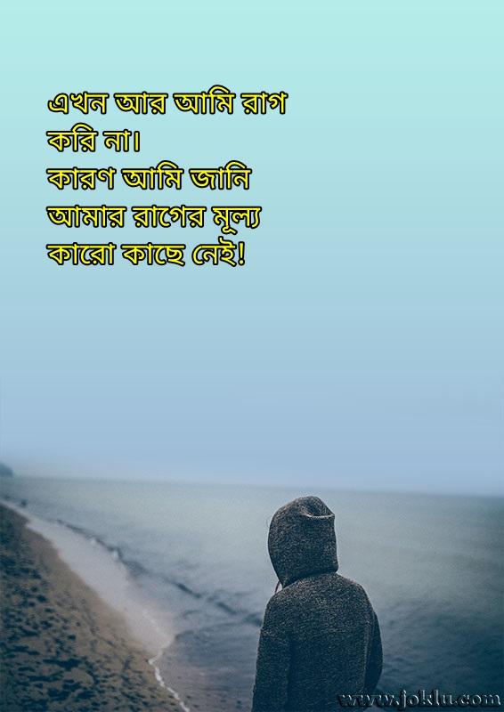 I never angry Bengali status message