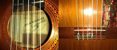 Guitarra española de artesanía Evelio Domínguez