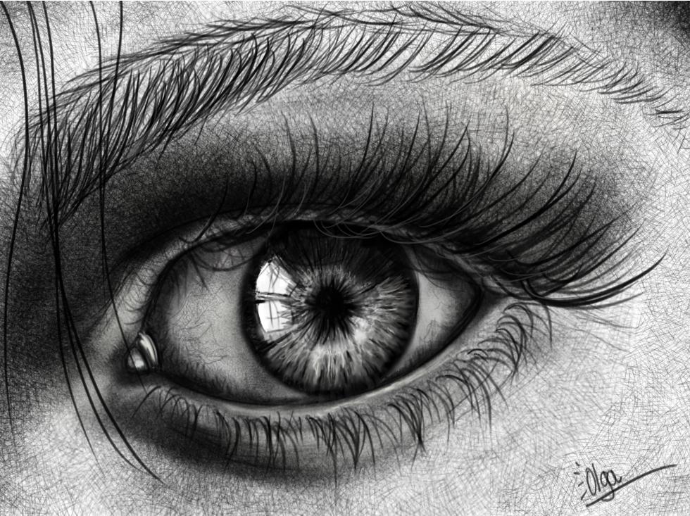 Olga Kali Art Oeil Réaliste Realistic Eye