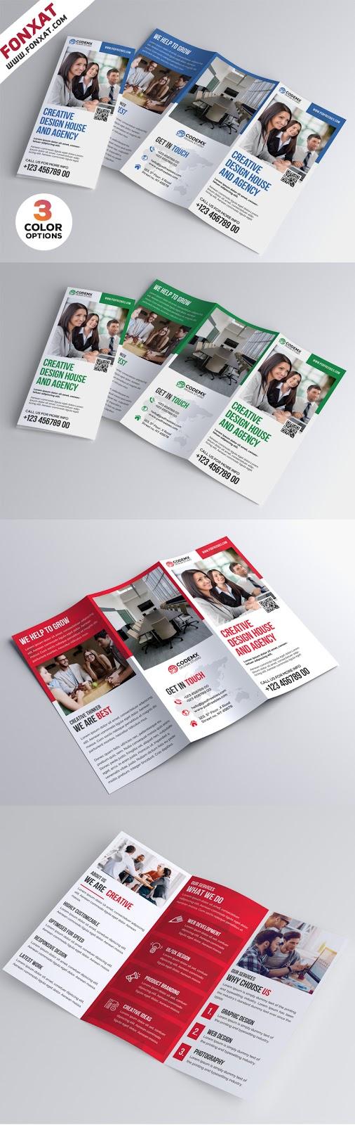 Professional-A4-Tri-fold-Brochure-PSD-Bundle