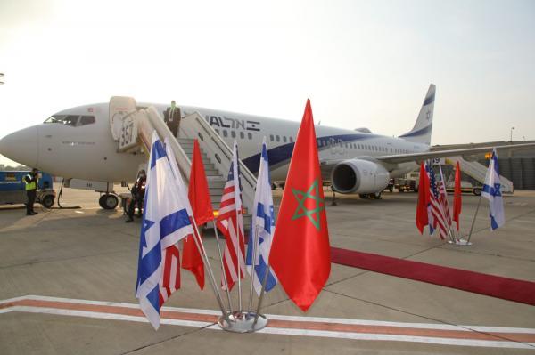 """رسميا...إقلاع الطائرة الإسرائيلية من مطار """"بن غوريون"""" باتجاه المغرب في أول رحلة مباشرة (صور)"""