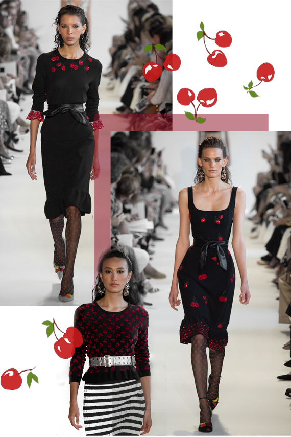 prints fashion trends, cherries