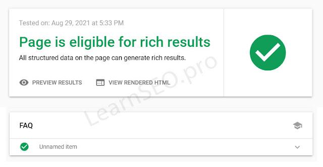 faq schema rich results