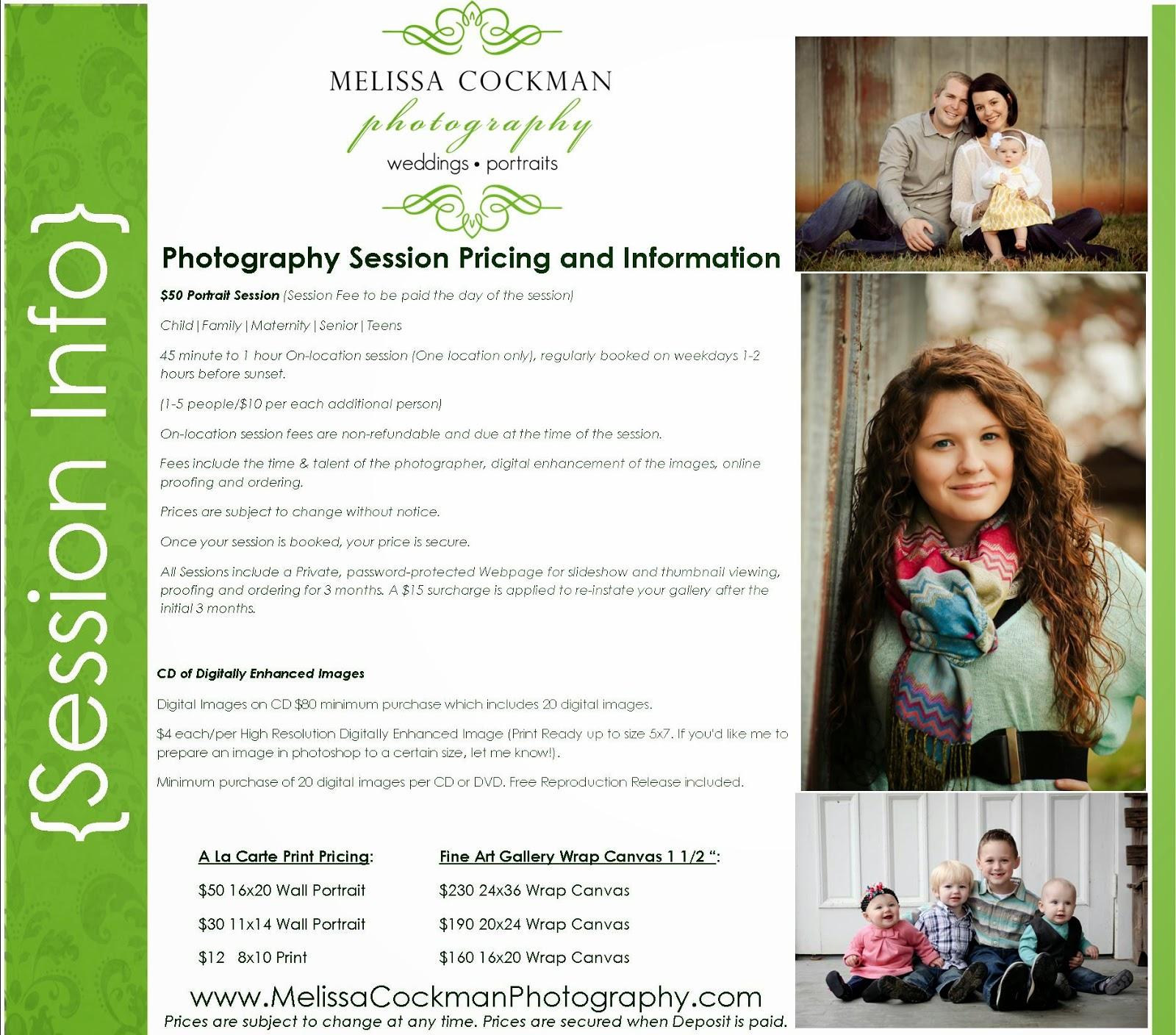 Melissa Cockman Photography {the blog}: Portrait Pricing: Child