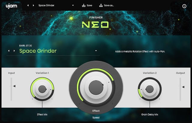 Interface do plugin UJAM - Finisher NEO v1.0.1