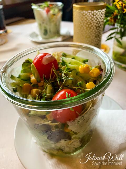 Salat im Glas  Restaurant Dornröschenshöh